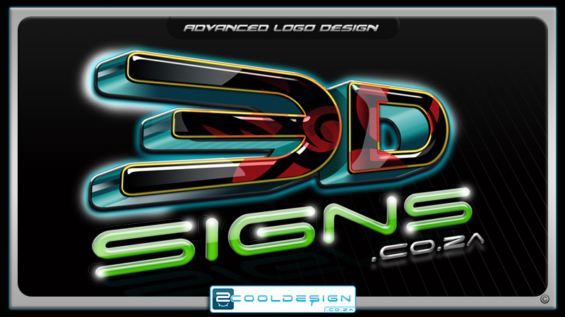 3D signs logo, photoshop logo