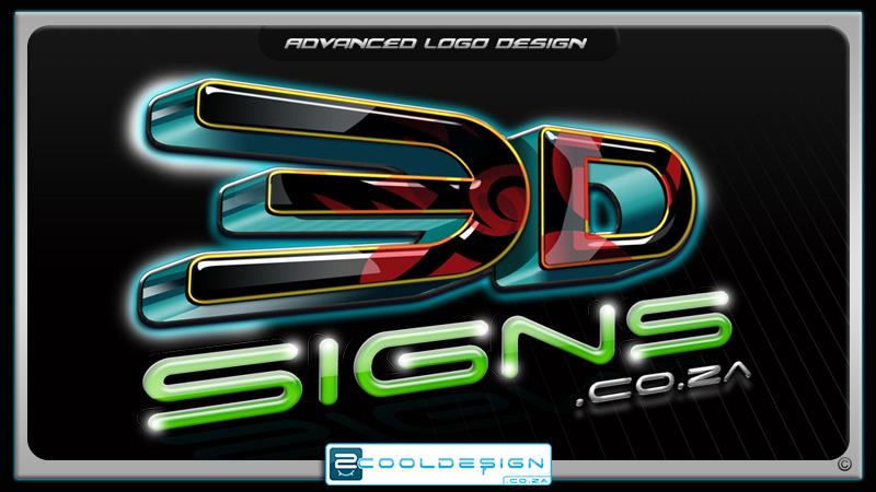 3D signs logo, photoshop logo
