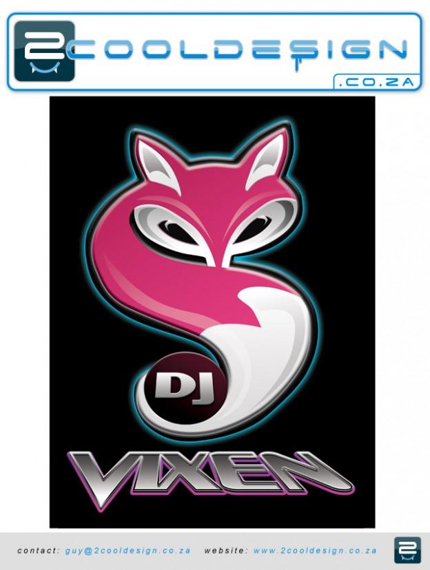 DJ tshirt logo cool,sexy t-shirt,sexy fox,sexy logo