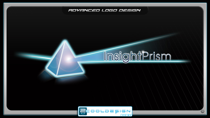Light beam through prism logo design