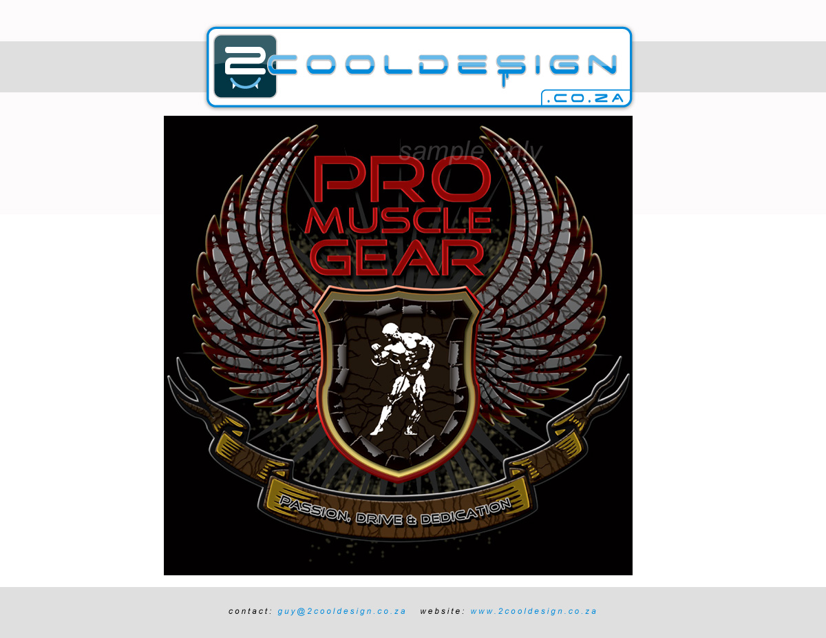 Design t shirt brand - T Shirt Design Cool Shatter Effect For Muscle Building Brand Tshirt Logo Design