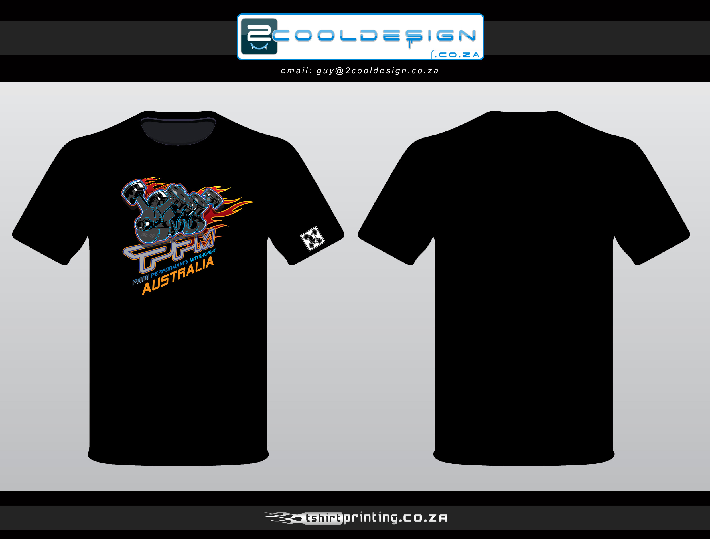 Design t shirt brand - V8 Motor Piston Tshirt Design For Ppm Racing V8 Tshirt
