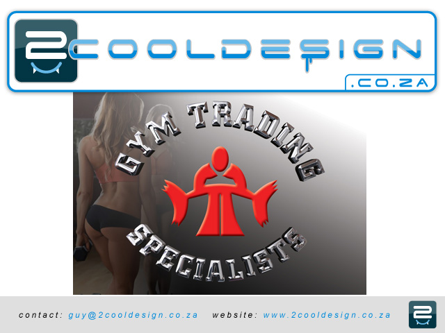 corporate gym logo spice up with chrome look