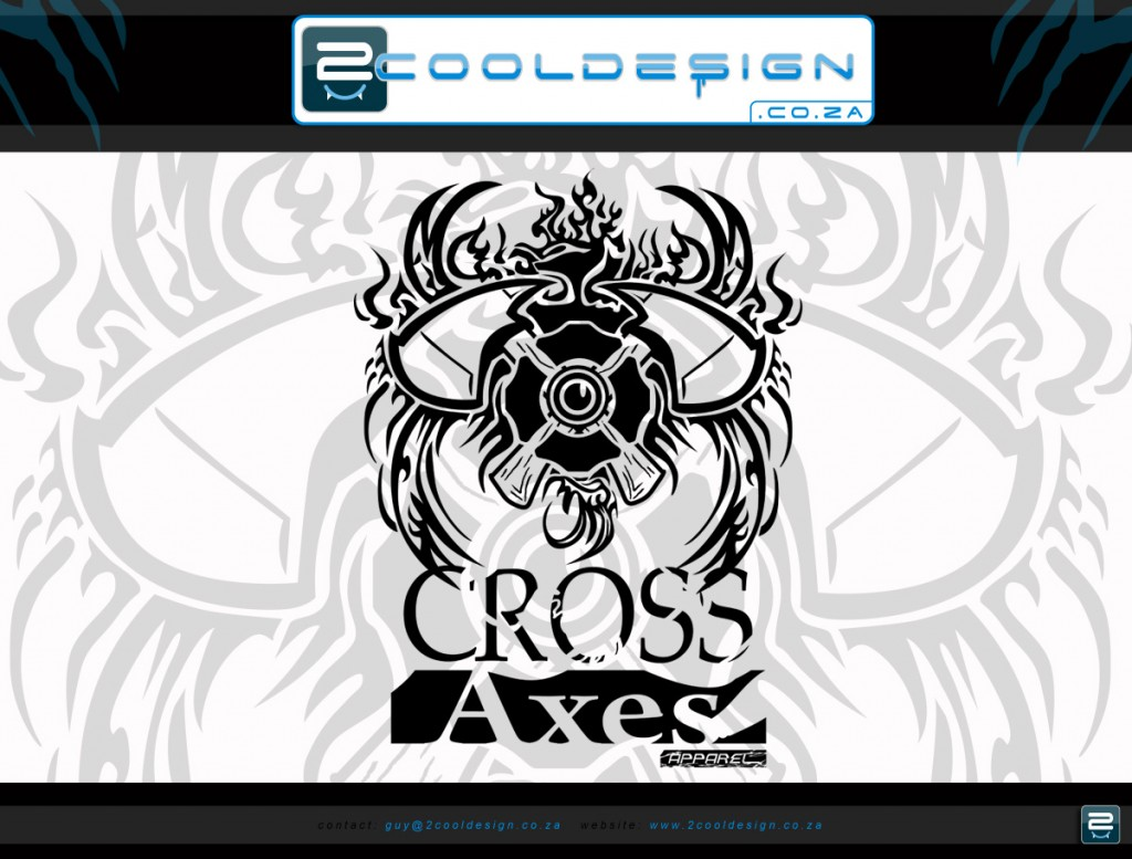 Brand clothing logo design Cross Axes Apparel