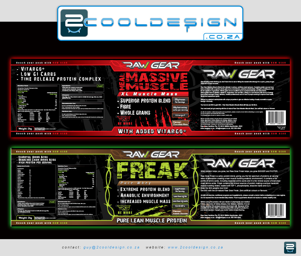 Massive muscle meal label design for nutritional shake,label design, cool label design, awesome label designer, freak label design