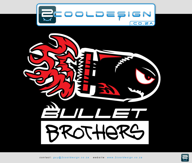 A Cool Logo design for a cricket team bullet brothers.