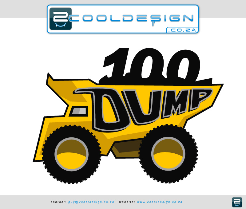 logo-100-dump-truck-100ton-earth-mover-logo-design