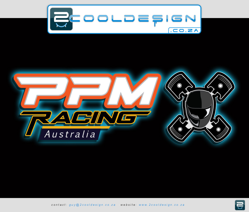 ppm logo design sports racing car logo car parts supplier logo