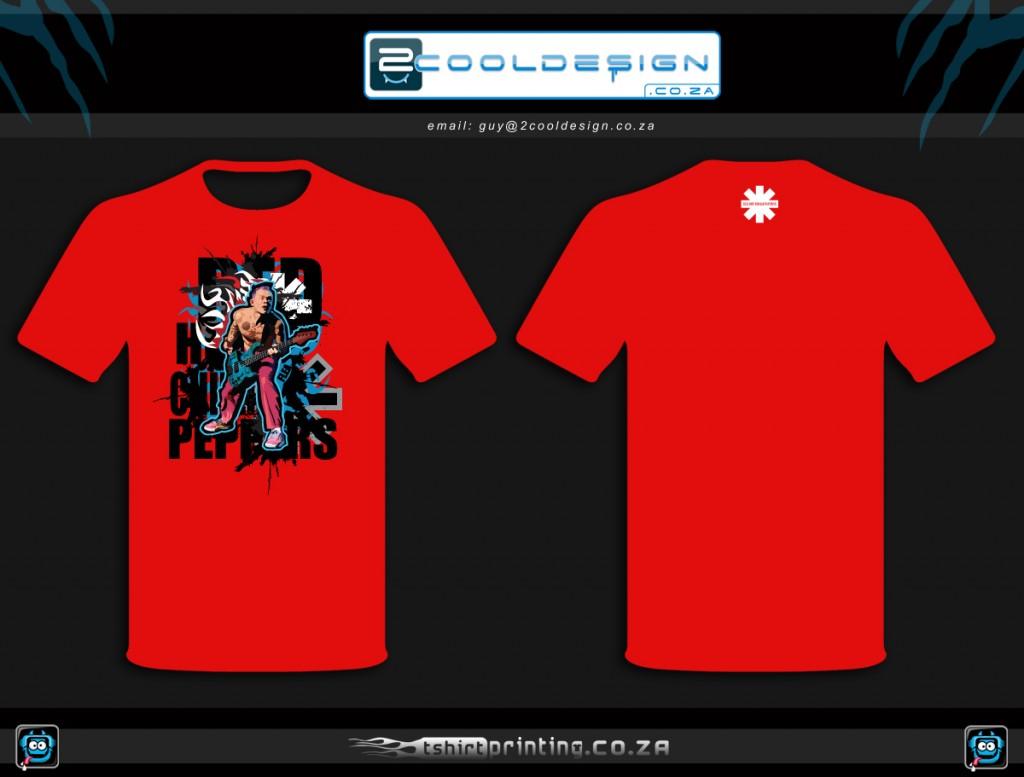 Custom tshirt design mock up tshirt on red final chosen for Best custom t shirt company
