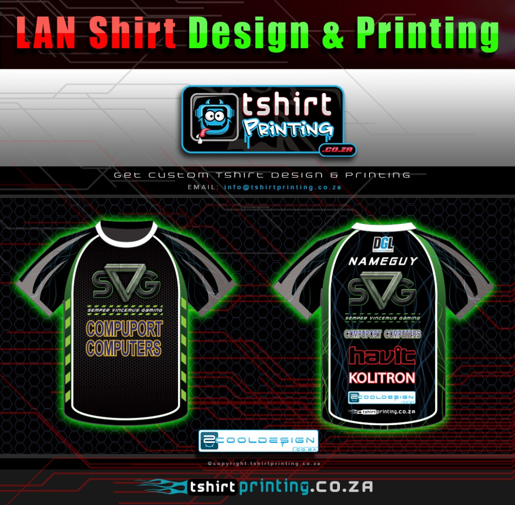 who does lan gamer shirt design