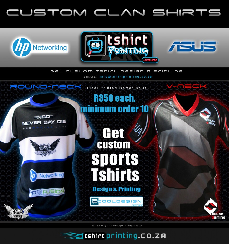 Order Custom gamer shirt south africa