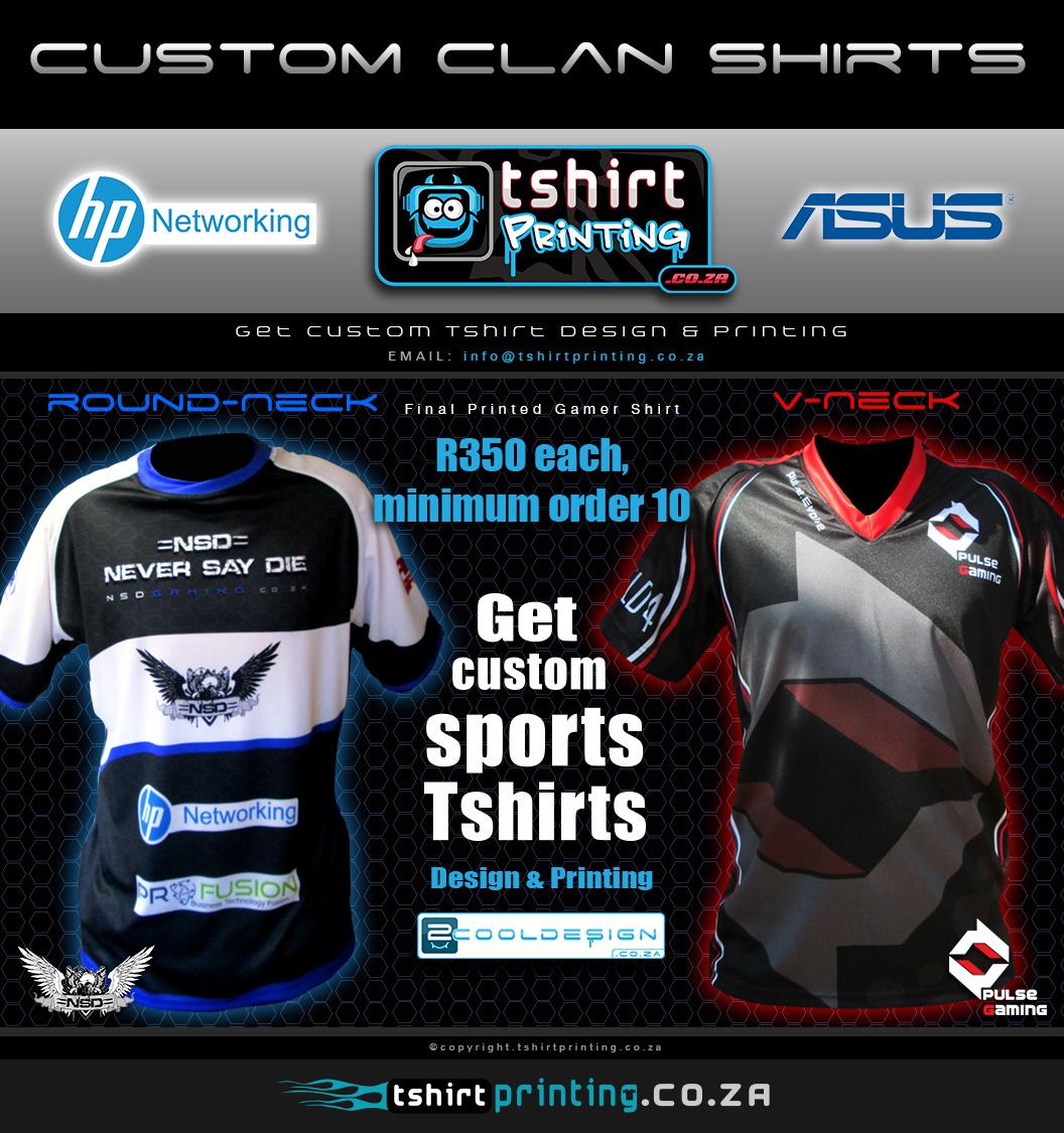 Order Custom gamer shirt south africa