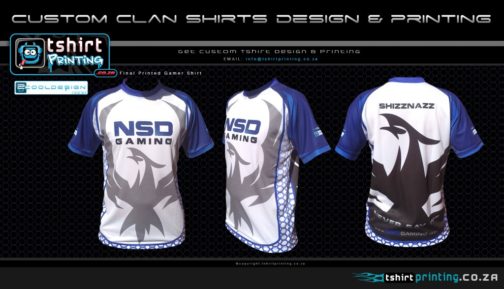 Who designed NSD gamer shirts for RAGE EXPO 2014: Guy Tasker from 2cooldesign.co.za
