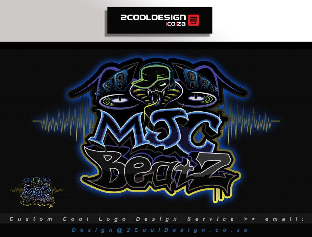 MJC-Beatz music producer logo 2cooldesign