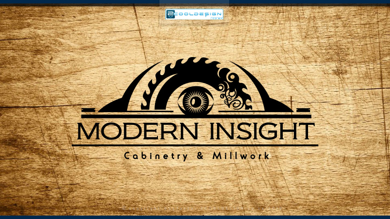 modern-insight-wood work specialist logo design