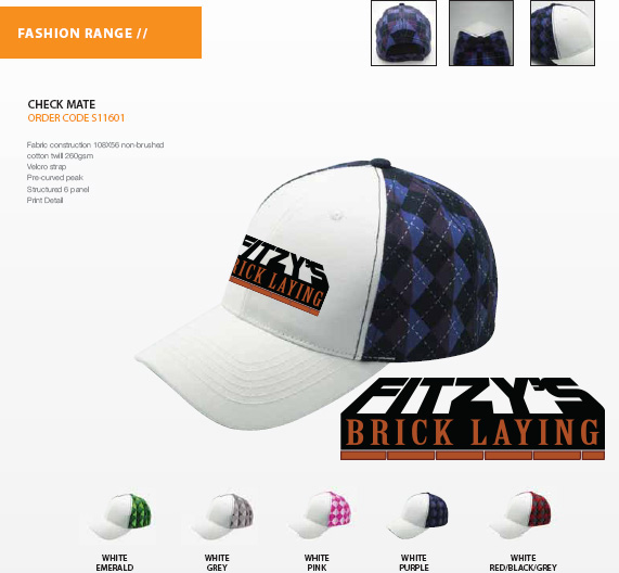 brick laying logo on cap idea