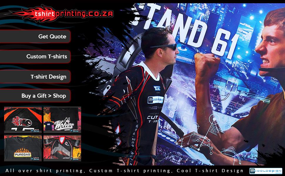 t-shirt printing landing page