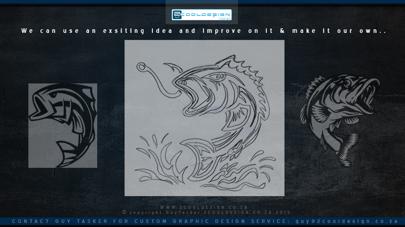 cool t shirt design ideas we have done for our clients bass tribal fish concept sketch - Cool T Shirt Design Ideas