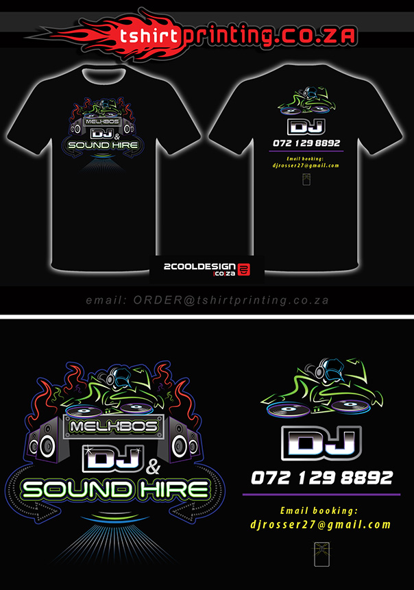 DJ t-shirt design