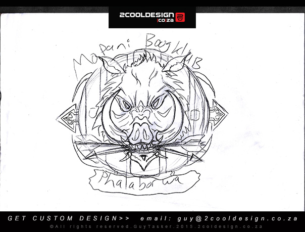 SKETCH LOGO BOW HUNTING LOGO IDEA