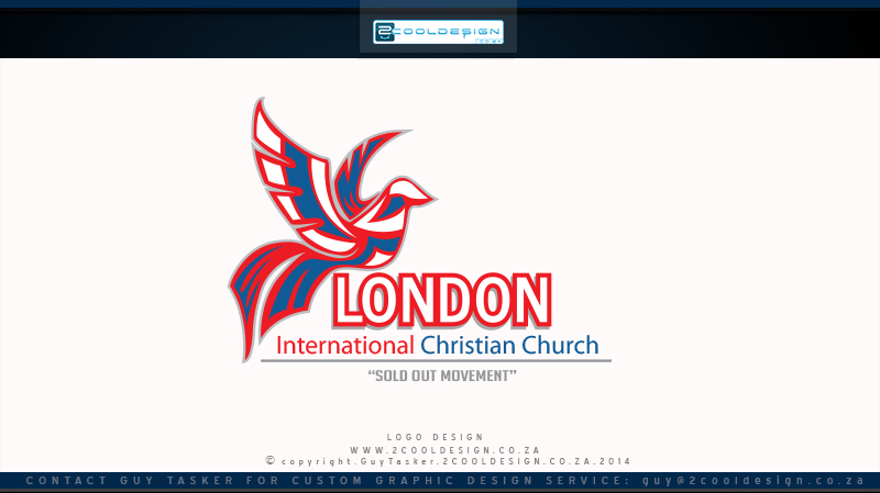 dove church logo design concept for light background