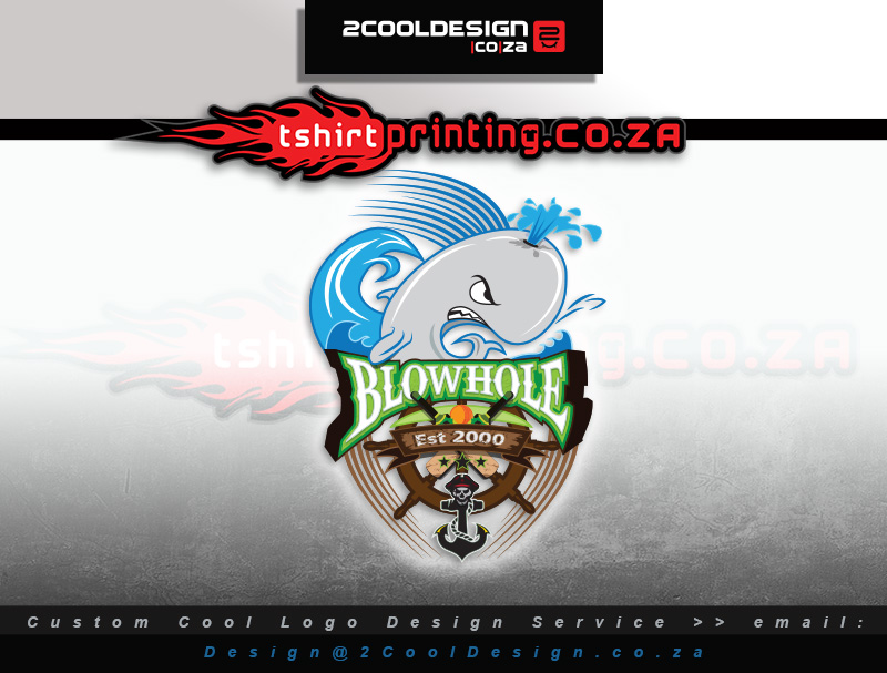 Cricket team logo and shirt for blowhole western cape cricket