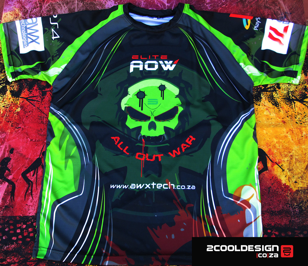 Gaming-team-jersey-2015-AOW-all-out-war-gamingclan-Shirts-for-RAGE-Esport-gaming-competition